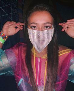Kopfschmuck Gesicht Glänzend Kette Quaste Frauen für venezianische Karneval-Maskerade-Masken Schmuck Nachtclub-Party-Halloween-Maske Yp761