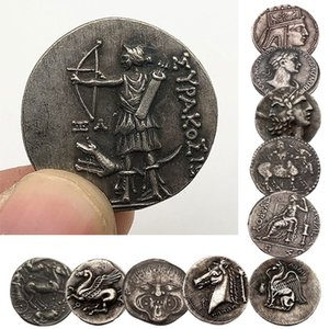 Grecia antigua vieja Cobre réplica Monedas Alivio diseño irregular de copia Medallas del arte conmemorativo para la recolección