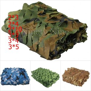 2X3m to 5X10m Outdoor Camping Camouflage Nets Woodland Army Camo netting Camping Sun ShelterTent Shade sun shelter