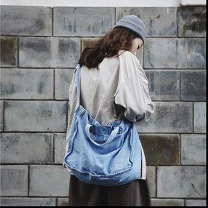 Джинсовая дорожная сумка для плеч Женская сумка большой емкости ECO Shopping Bag Big Crossbody сумки мягкие джинсы повседневные Tote Bolso Mujer