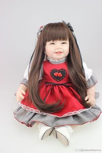 httoy 2015new design 22inch Reborn Toddler baby doll lifelike sweet girl real gentle touch