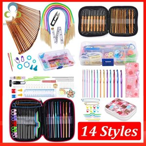 Sewing Notions & Tools Crochet Hooks Set With Case 14 Styles Knitting Needles Kit DIY Arts Craft Scissors Stitch Markers ZXH