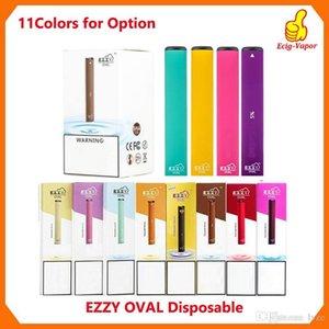 Ezzy OVAL Одноразовые устройства Pod Starter Kit Модернизированный 280mAh Аккумулятор 1,3 мл Картриджи Vape VS Puff Батончики Plus Bidi палку