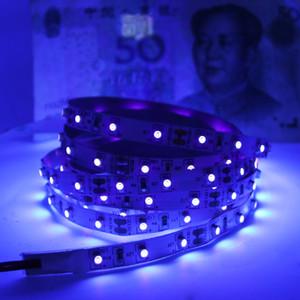 Ультрафиолетовые светильники, светодиодные черные светильники, 385 нм до 400 нм 300 единиц лампы, 16,4 фута 12 В Гибкие черные светильники для свечения вечеринки спальня