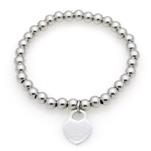 Новые женские медные браслеты из бисера из бисера нержавеющие, вернитесь в сердечные прелести T Pequare Pulsera браслет 1 шт.