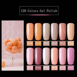 Modelones Rosa-Farben-Serie UV-Gel-Nagellack-Nagel-Kunst tränken weg vom LED-Hybrid-Lack Semi Permanent UV Emaille i6eN #