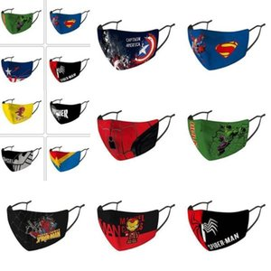 Deadpool Punisher Masque d'équitation Designer Captain America Masque Protection froid Masque Designer Shield Marvel Captain visage enfants visage bbyfq