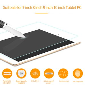 7 8 9 10 Inch Tempered Glass For Tablet PC 9H Anti-Scratch Tablet Screen Protector Protective Film Guard Anti-Blu-Ray For iPad
