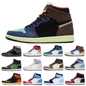 2020 Jumpman 1 OG Bio Hack Racer Blu Fearless Obsidian UNC Uomini Donne scarpe da basket Chicago Banned Toe Bred Sneakers Sport