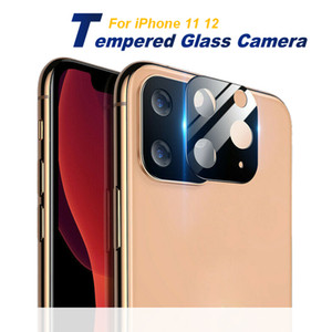 Camera Film tempered glass for iPhone 12 11 Real Metal Glass Camera Len Protector Cover for iPhone11 Pro Pro Max Glass Cover