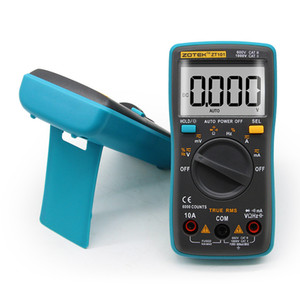 ZT101 ZT102 디지털 자동 범위 휴대용 멀티 미터 6000 카운트 백라이트 Ammeter Voltmeter Ohm English / 러시아어 사용 설명서