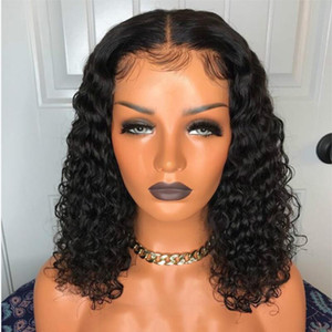 Magic Love human hair wigs lace front curly frontal bob wig remy brazilian Curl Short Bob Wig Lace Frontal With Women