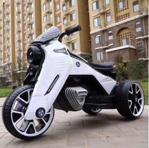 2020 새로운 어린이 전기 오토바이 2-7 년 소년과 소녀 아기 배터리를 두 번 드라이브 전기 자동차 아기 세발 자전거 캔 앉아 사람들