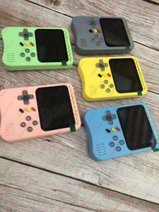 new fashion macaron portable game console 500 in 1 games vs 400 in 1 games for kids gift with nice box