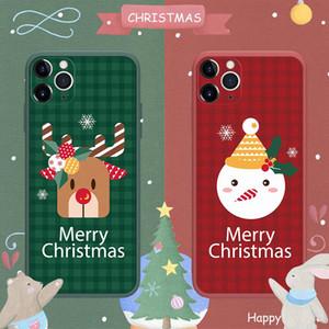 caja del teléfono de silicona para el iPhone 11 pro max cámara de uso general protectora cubierta móvil de navidad líquido suave para el iphone Samsung Note 12 20 Ultra