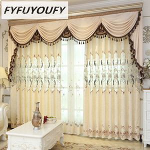 FYFUYOUFY Europeia cortinas para sala de estar muito bem bordado cortinas de tule para o quarto do berçário em tecido jCaj #