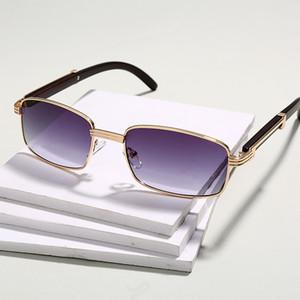 Metal Jaspeer New Women Vintage Style Square Sunglasses Diseño de marca Gafas de sol para hombres UV400 Gafas CH01