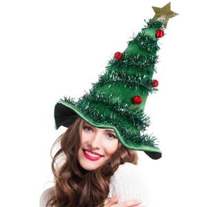 2020 Christmas Tree Hat On Headband Father Christmas Xmas Party Santa Fancy Dress Costume Hat Holiday decorations Headgear