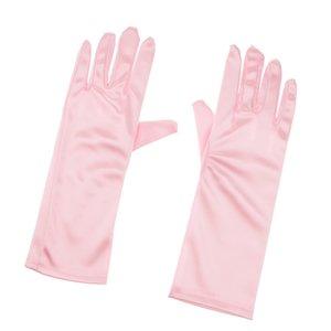 Bambini formali Stretch Nylon lunghi Finger Gloves per Girl Children accessorio del partito