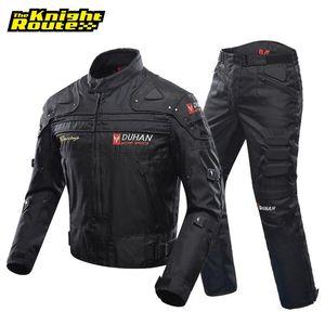 Duhan Windproof Motociclismo Roupa Protectora engrenagem Armour Motorcycle Jacket + Motorcycle Pants Hip Protector Moto Roupa Set
