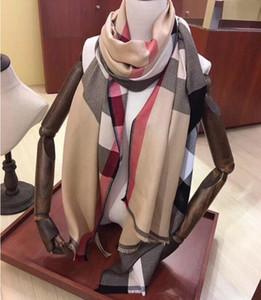 럭셔리 겨울 캐시미어 스카프의 경우 여성과 남성 브랜드 디자이너 남성의 따뜻한 격자 무늬 스카프 패션 여성 캐시미어 울을 모방 스카프 180x70cm