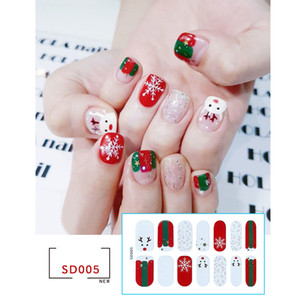 christmas decorations 2020 funny 14 stickers cross-border foreign trade Christmas nail art full stickers stickers nail art accessories