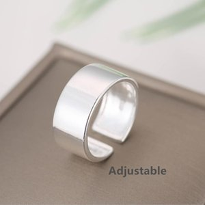 2020 new arrival Tibetan Silver wide big adjustable Ring simple Best Friend Gift Love Symbol Fashion women jewelry Free Shipping