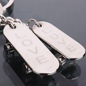Creative Car key chain full metal key ring Love music symbol couple keychain event gift custom lettering printed logo one pair