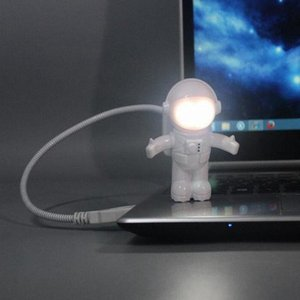 Astronaut Spaceman LED Night Light USB Desk Lamp Computer PC Keyboard Flexible Book Light Best Gift For Friend