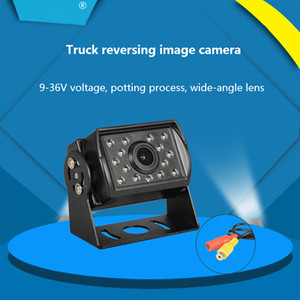 Truck Reversing Image 14 Lights Suitable for Bus and Truck Reversing Rear View Car Camera Waterproof Black