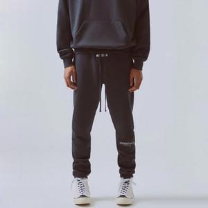 TANRI Essentials Pantolon 3M Yansıtıcı Harf Nakış eşofman altı Moda Sokak Erkekler Pantolon Spor Sweatpants HFYMKZ178 OF 19FW SİS KORKUSU