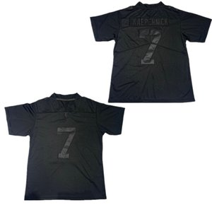 2020 Nuovo NCAA IMWITHKAP 7 Colin Kaepernick JERSEY M CON KAP Mens pullover di football Nero Bianco