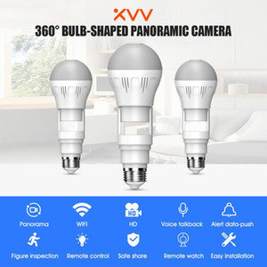 Xiaovv IP Camera Bulb Lamp Light Wireless 2MP 5MP HD 360° Panoramic Light Home CCTV Security Video Surveillance Wifi Camera