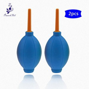 Blue air blower for professional eyelash extension dry Blower Nail Tool Fast Dry 2pcs