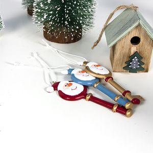 DHL Kargo Noel Süsler Noel Baba Anahtar kolye Noel ağacı Dekorasyon Serisi Çiftlik Evi Crafts 3 Renkler Asma DWD1712