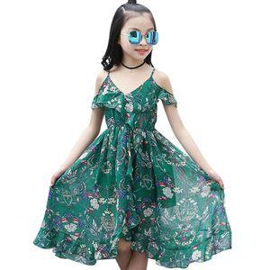 Aixinghao 여자 드레스 보헤미안 여름 드레스 소녀 2,018 캐주얼 여자 비치 sundress에 십대 어린이 청소년 의류 6 8 10 12 년