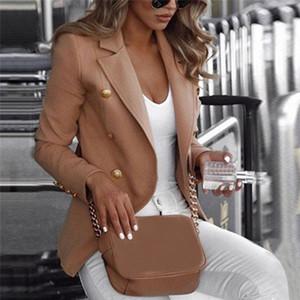 Hot Women Long Sleeve Slim Fit Suit Ladies Formal Business Coat Duster Jacket