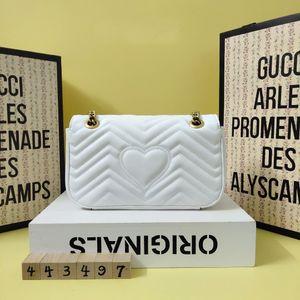 Alta qualità luxurys Designers Borse Borse Purses MIni Marmont Crossbody Bag donne di marca di stile classico borse a spalla del cuoio genuino
