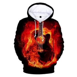 3D Guitar Hoodies Sweatshirts Fashion Men Women Hoodies Guitar 3D Print For Kids And Adult Hooded Casual Sweatshirts Pullover