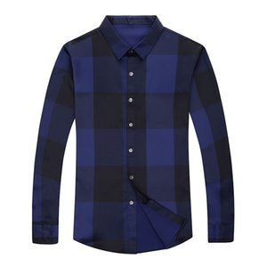 MIACAWOR New Brand Dress Shirt Men Spring Long Sleeve Plaid Shirts Slim Fit Camisa Masculina Casual Men Shirts C576 200925