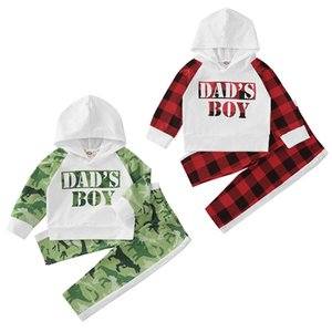 kids clothes girls outfits infant letter rainbow dinosaur Hooded Tops+plaid pants 2pcs set fashion Spring Autumn baby Clothing Sets Z1666