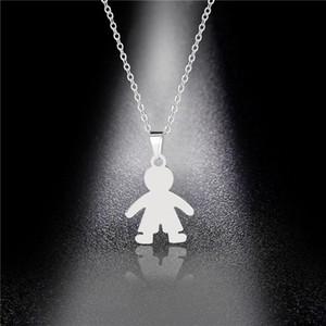 Pendant Necklaces Titanium Steel Boy Necklace, Simple Pendant, Stainless Necklace Wholesale