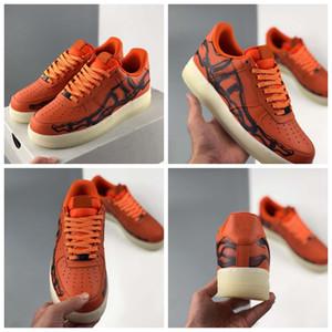 2020 New Release Laranja de esqueleto QS Mens Running Shoes Mulheres Sneakers1s Dia das Bruxas Skate Sneakers Trainers Zapatos Tamanho 36-45