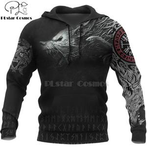 PLstar Cosmos Guerrero de Viking tatuaje nuevo de la manera ocasional del chándal de la impresión 3D / chaqueta / style-49 hombres de las mujeres de la cremallera / sudadera con capucha / sudadera
