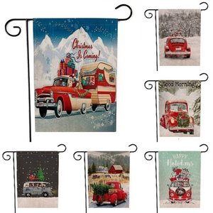 NEW Christmas Banners Snowman Elk Cloth Garden Flag Merry Christmas Decorations For Home Xmas Ornaments Banners 20PCS T500199
