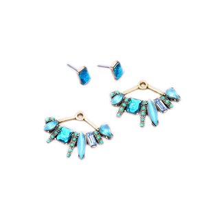 New Design Detachable Stud Earrings Fanned Party Jewelry Best Selling Color Antique Gold Color Earrings for Women