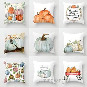 25 Styles Halloween Pumpkins Pillow Covers Winter Decor Micro-fibe Cushion Covers Sofa Throw Pillow Case Home Car Cushion Covers 45*45cm