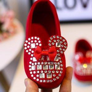 Ofrecemos grandes princesa de diamantes de imitación brillante chica, encaje hasta zapatos de la escuela de baile, zapatos de los niños de luz