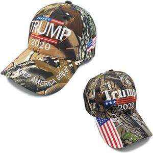 Donald Trump Camouflage Baseball Caps 2020 Election Keep America Grand Trump Président Chapeau Drapeaux des États-Unis Parti Chapeaux DDA567