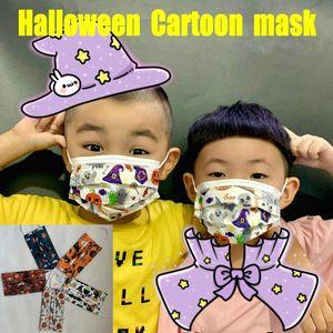 Cadılar Bayramı Noel Karikatür Kid Yetişkin Tasarımcı Yüz Maskeleri Moda Çocuk 3 katmanlı tek kullanımlık maske Koruyucu Erkekler Kızlar mascarilla stokta